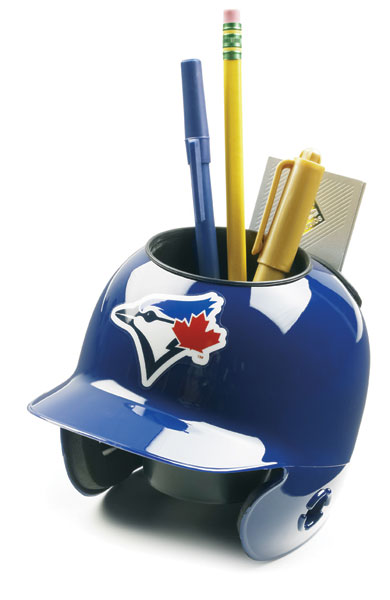 Toronto Blue Jays Miniature Batters Helmet Desk Caddy PSM-Powers Sports Memorabilia