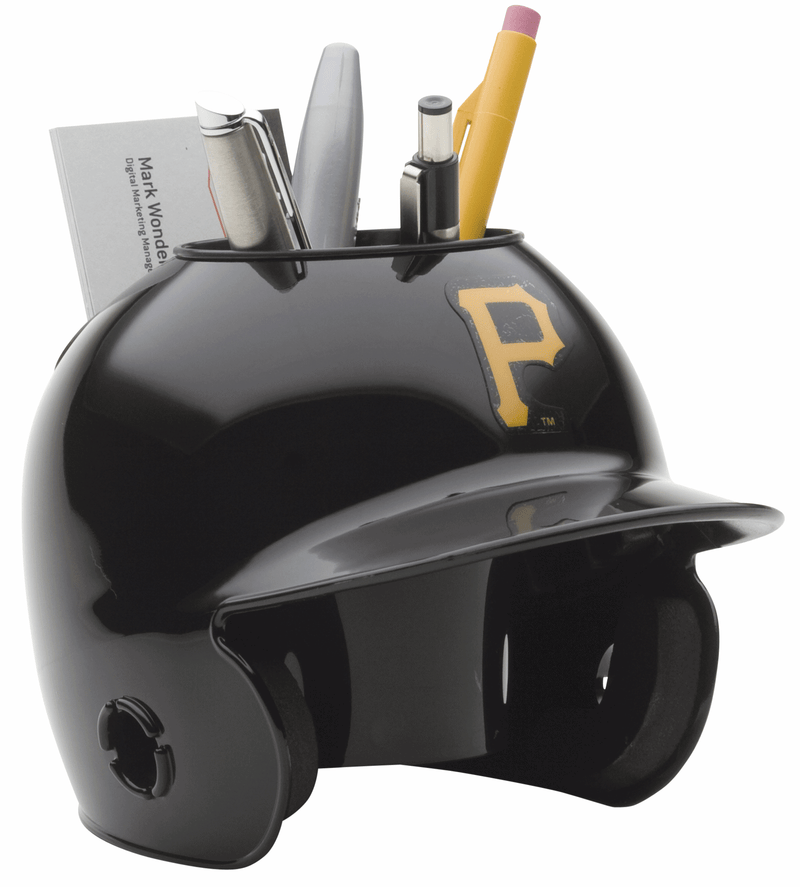 Pittsburgh Pirates Miniature Batters Helmet Desk Caddy PSM-Powers Sports Memorabilia
