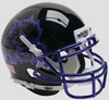 TCU Horned Frogs Mini XP Authentic Helmet Schutt B Black with Chrome Mask B PSM-Powers Sports Memorabilia