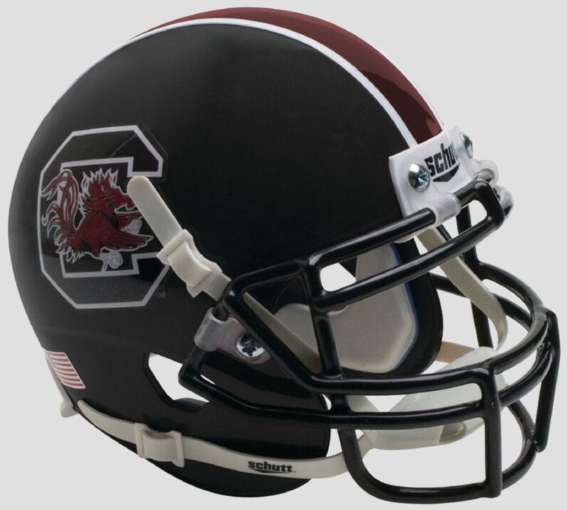 South Carolina Gamecocks Full XP Replica Football Helmet Schutt B Matte Black B PSM-Powers Sports Memorabilia