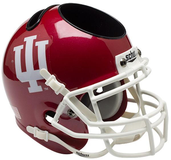 Indiana Hoosiers Miniature Football Helmet Desk Caddy PSM-Powers Sports Memorabilia