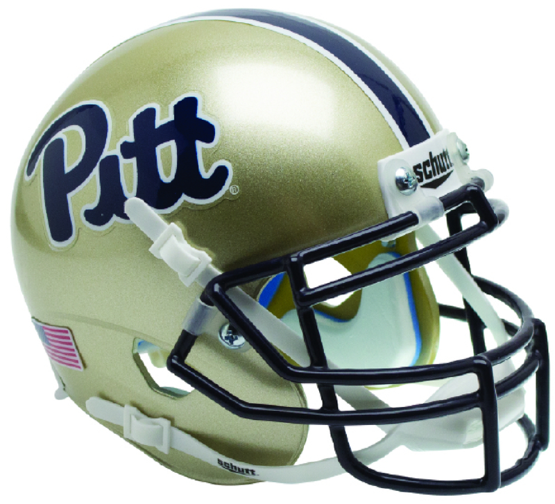Pittsburgh Panthers Miniature Football Helmet Desk Caddy B Script B PSM-Powers Sports Memorabilia