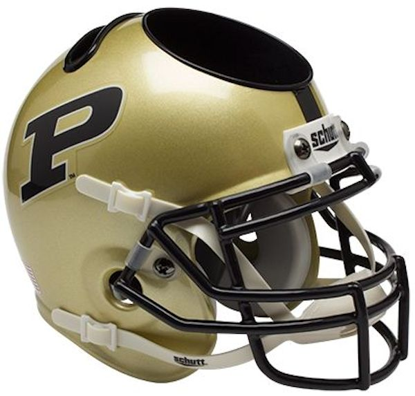 Purdue Boilermakers Miniature Football Helmet Desk Caddy PSM-Powers Sports Memorabilia