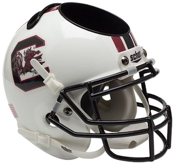 South Carolina Gamecocks Miniature Football Helmet Desk Caddy PSM-Powers Sports Memorabilia