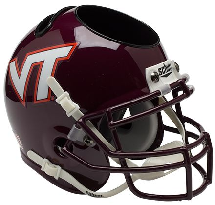 Virginia Tech Hokies Miniature Football Helmet Desk Caddy PSM-Powers Sports Memorabilia