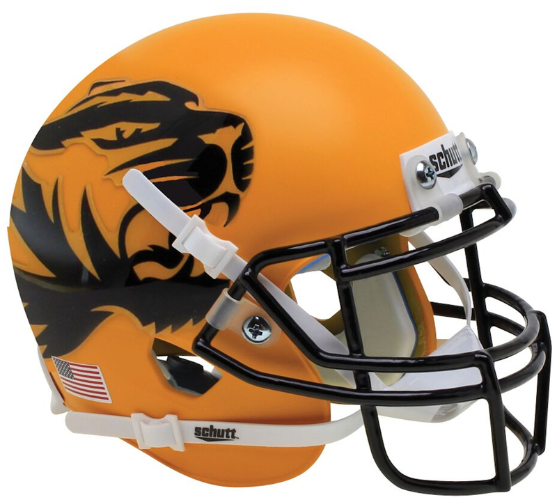 Missouri Tigers Authentic College XP Football Helmet Schutt B Yellow Large Tiger B PSM-Powers Sports Memorabilia
