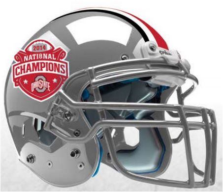 Ohio State Buckeyes 2014 National Champions Replica Football Helmet Schutt PSM-Powers Sports Memorabilia
