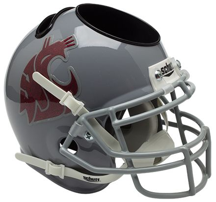 Washington State Cougars Miniature Football Helmet Desk Caddy PSM-Powers Sports Memorabilia