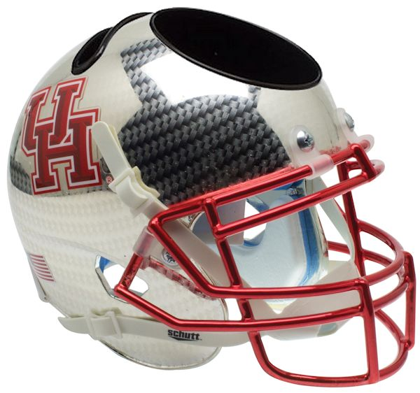 Houston Cougars Miniature Football Helmet Desk Caddy B Crosshatch B PSM-Powers Sports Memorabilia
