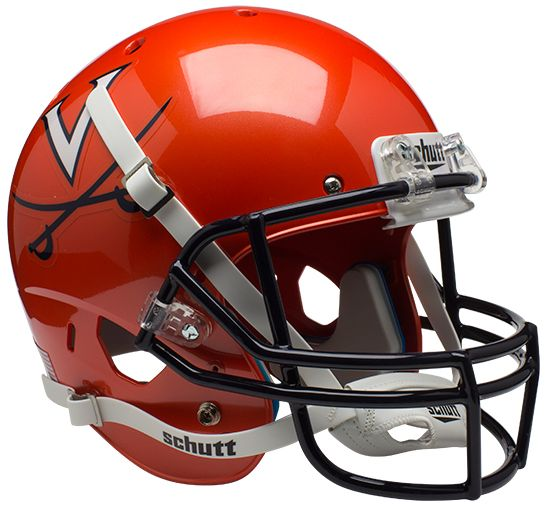 Virginia Cavaliers Full XP Replica Football Helmet Schutt B Orange B PSM-Powers Sports Memorabilia