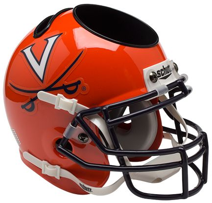 Virginia Cavaliers Miniature Football Helmet Desk Caddy B Orange B PSM-Powers Sports Memorabilia
