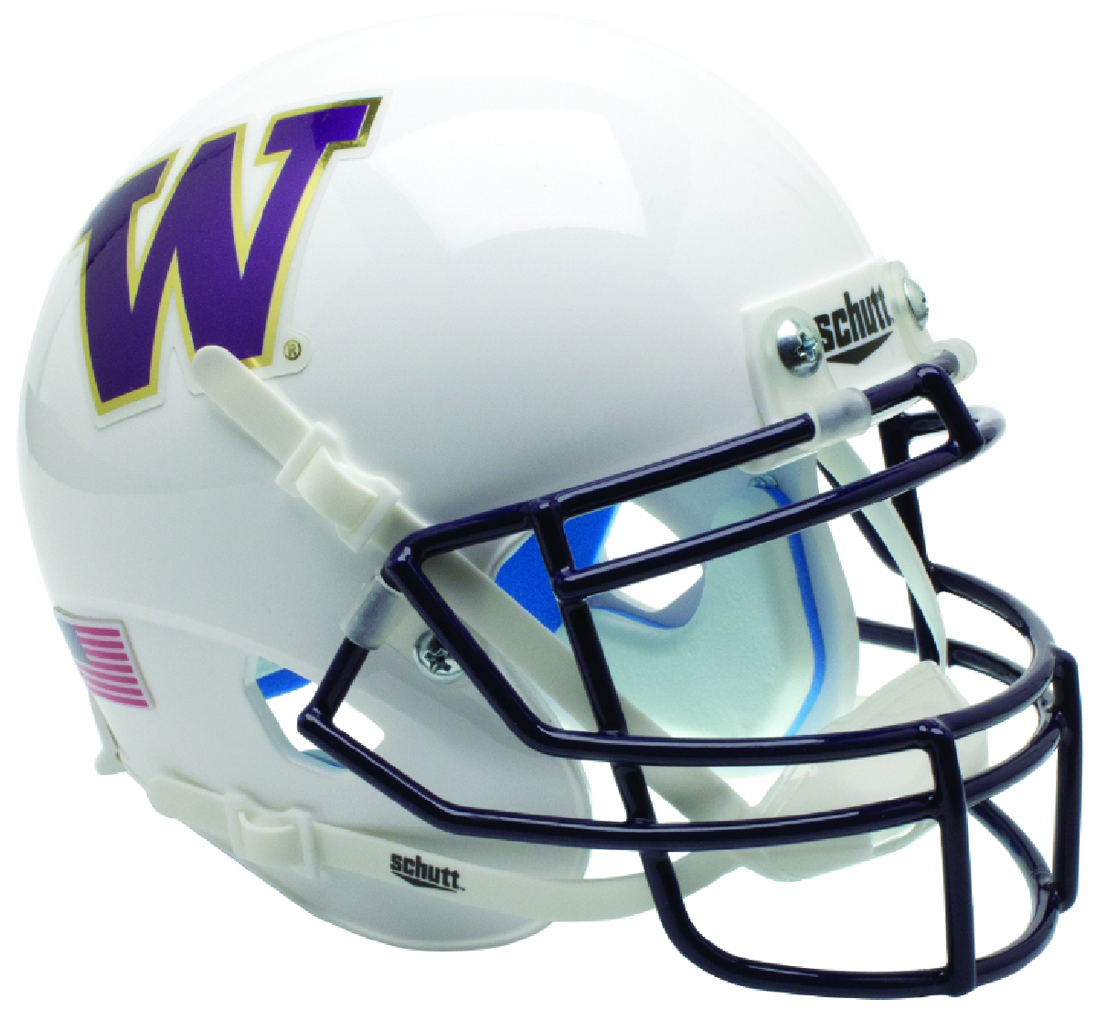 Washington Huskies Miniature Football Helmet Desk Caddy B Matte White B PSM-Powers Sports Memorabilia