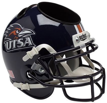 UTSA Roadrunners Mini Football Helmet Desk Caddy PSM-Powers Sports Memorabilia