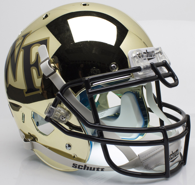Wake Forest Demon Deacons Authentic College XP Football Helmet Schutt B Chrome B PSM-Powers Sports Memorabilia