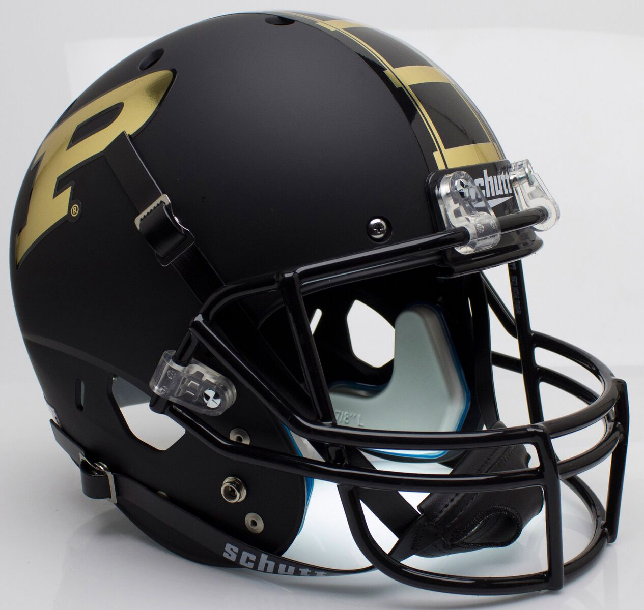 Purdue Boilermakers Full XP Replica Football Helmet Schutt B Matte Black B PSM-Powers Sports Memorabilia