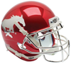 Southern Methodist (SMU) Mustangs Full XP Replica Football Helmet Schutt B Red Chrome With Chrome Mask B PSM-Powers Sports Memorabilia