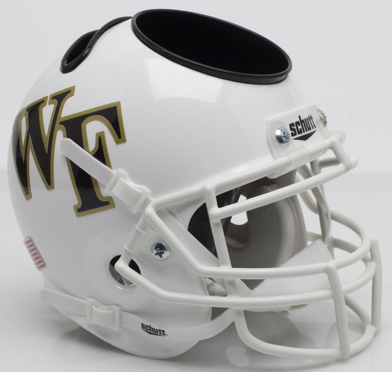 Wake Forest Demon Deacons Miniature Football Helmet Desk Caddy B White B PSM-Powers Sports Memorabilia