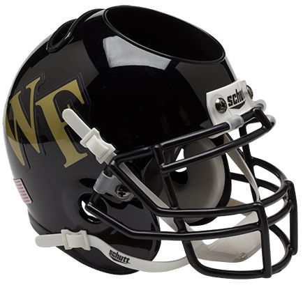 Wake Forest Demon Deacons Miniature Football Helmet Desk Caddy PSM-Powers Sports Memorabilia