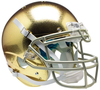 Notre Dame Fighting Irish Authentic College XP Football Helmet Schutt B Textured with Metallic Mask B PSM-Powers Sports Memorabilia