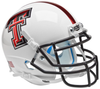 Texas Tech Red Raiders Mini XP Authentic Helmet Schutt B White Chrome Logo B PSM-Powers Sports Memorabilia