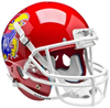 Kansas Jayhawks Full XP Replica Football Helmet Schutt B Scarlet Red B PSM-Powers Sports Memorabilia