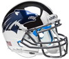 Nevada Wolfpack Mini XP Authentic Helmet Schutt B Chrome Silver B PSM-Powers Sports Memorabilia