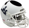 West Virginia Mountaineers Miniature Football Helmet Desk Caddy B Matte White B PSM-Powers Sports Memorabilia