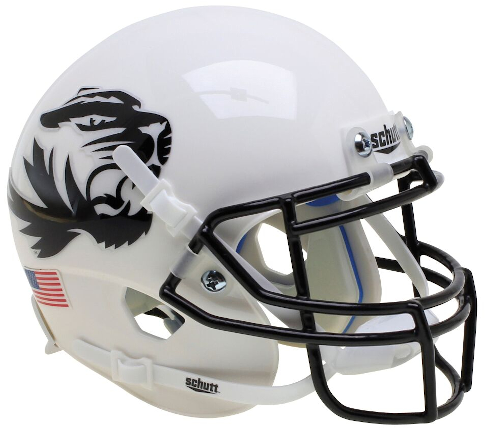 Missouri Tigers Authentic College XP Football Helmet Schutt B White Tiger B PSM-Powers Sports Memorabilia
