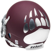 Montana Grizzlies Mini XP Authentic Helmet Schutt B Matte Maroon B PSM-Powers Sports Memorabilia
