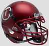 Utah Utes Authentic College XP Football Helmet Schutt B Satin RedB PSM-Powers Sports Memorabilia