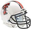 Texas Tech Red Raiders Mini XP Authentic Helmet Schutt B White B PSM-Powers Sports Memorabilia