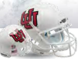 Utah Utes Authentic College XP Football Helmet Schutt B White UU White MaskB PSM-Powers Sports Memorabilia