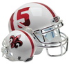 Louisiana (Lafayette) Ragin Cajuns Full XP Replica Football Helmet Schutt B White with Chrome Mask B PSM-Powers Sports Memorabilia