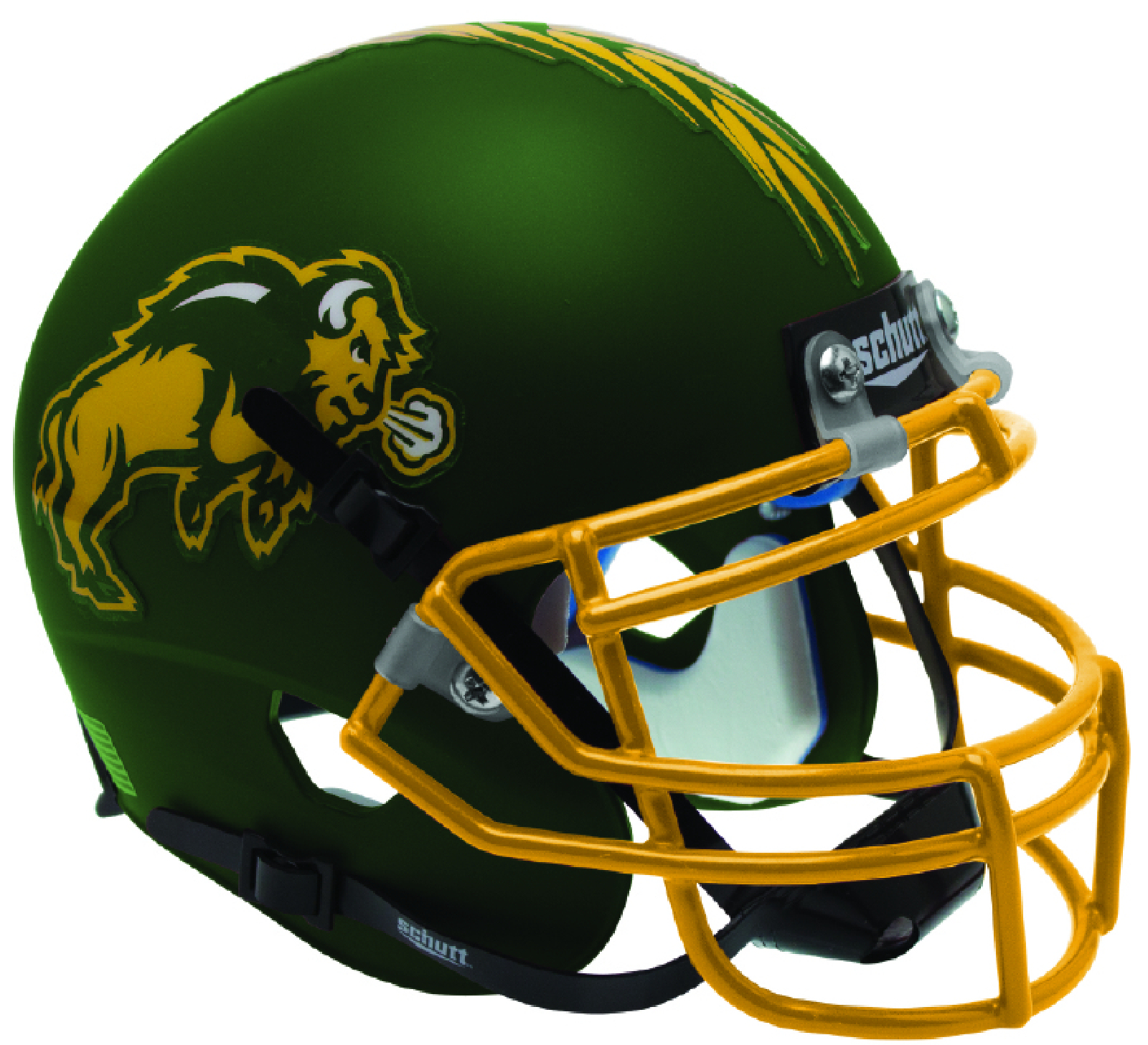 North Dakota State Bison Mini XP Authentic Helmet Schutt B Matte Green B PSM-Powers Sports Memorabilia
