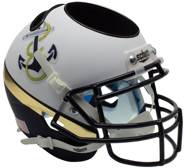 Navy Midshipmen Miniature Football Helmet Desk Caddy B 2012 Special B PSM-Powers Sports Memorabilia