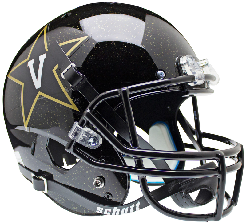 Vanderbilt Commodores Full XP Replica Football Helmet Schutt B BlackB PSM-Powers Sports Memorabilia