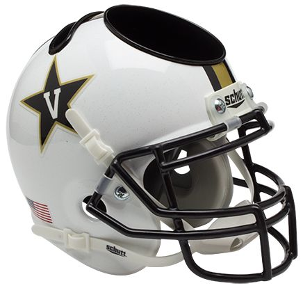 Vanderbilt Commodores Miniature Football Helmet Desk Caddy B White B PSM-Powers Sports Memorabilia