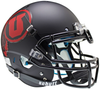 Utah Utes Authentic College XP Football Helmet Schutt B Matte Black w Red decalB PSM-Powers Sports Memorabilia