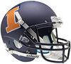 Illinois Fighting Illini Full XP Replica Football Helmet Schutt B Matte Navy B PSM-Powers Sports Memorabilia