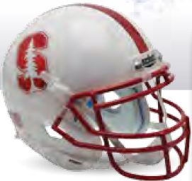 Stanford Cardinal Miniature Football Helmet Desk Caddy B Chrome Decal B PSM-Powers Sports Memorabilia