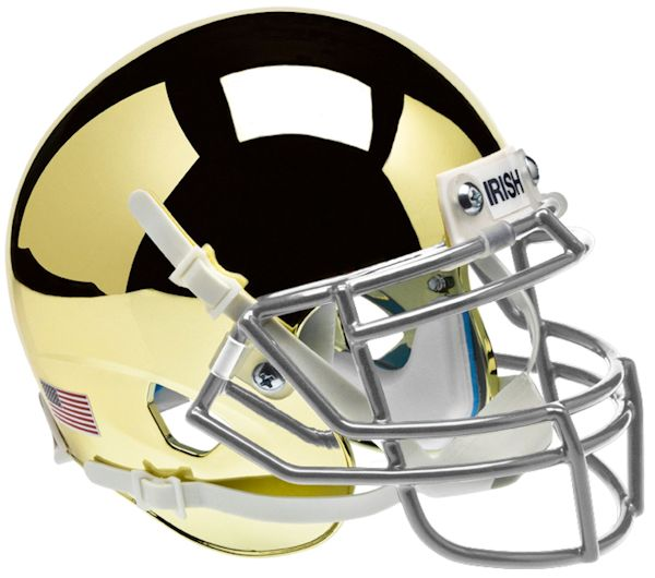 Notre Dame Fighting Irish Mini Authentic Helmet Schutt B Gold B PSM-Powers Sports Memorabilia
