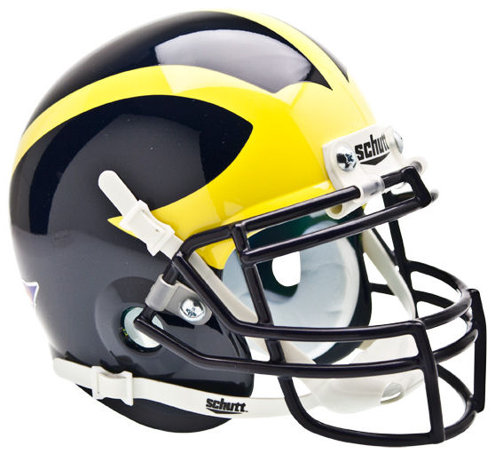 Michigan Wolverines Mini XP Authentic Helmet Schutt PSM-Powers Sports Memorabilia