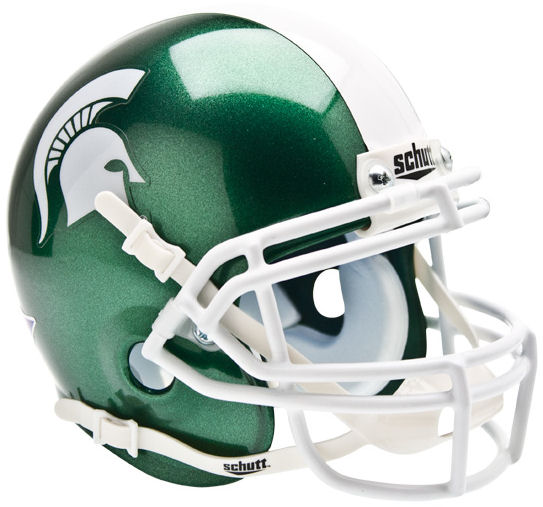 Michigan State Spartans Mini XP Authentic Helmet Schutt PSM-Powers Sports Memorabilia