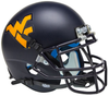 West Virginia Mountaineers Mini XP Authentic Helmet Schutt B Matte Navy B PSM-Powers Sports Memorabilia
