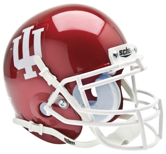 Indiana Hoosiers Mini XP Authentic Helmet Schutt PSM-Powers Sports Memorabilia