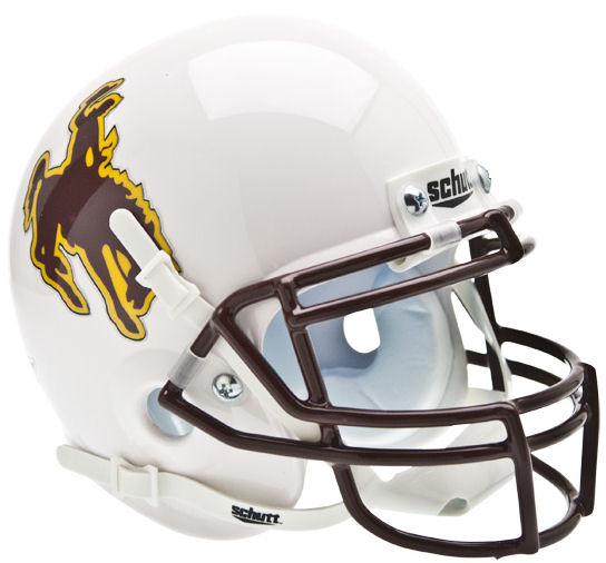 Wyoming Cowboys Mini XP Authentic Helmet Schutt PSM-Powers Sports Memorabilia