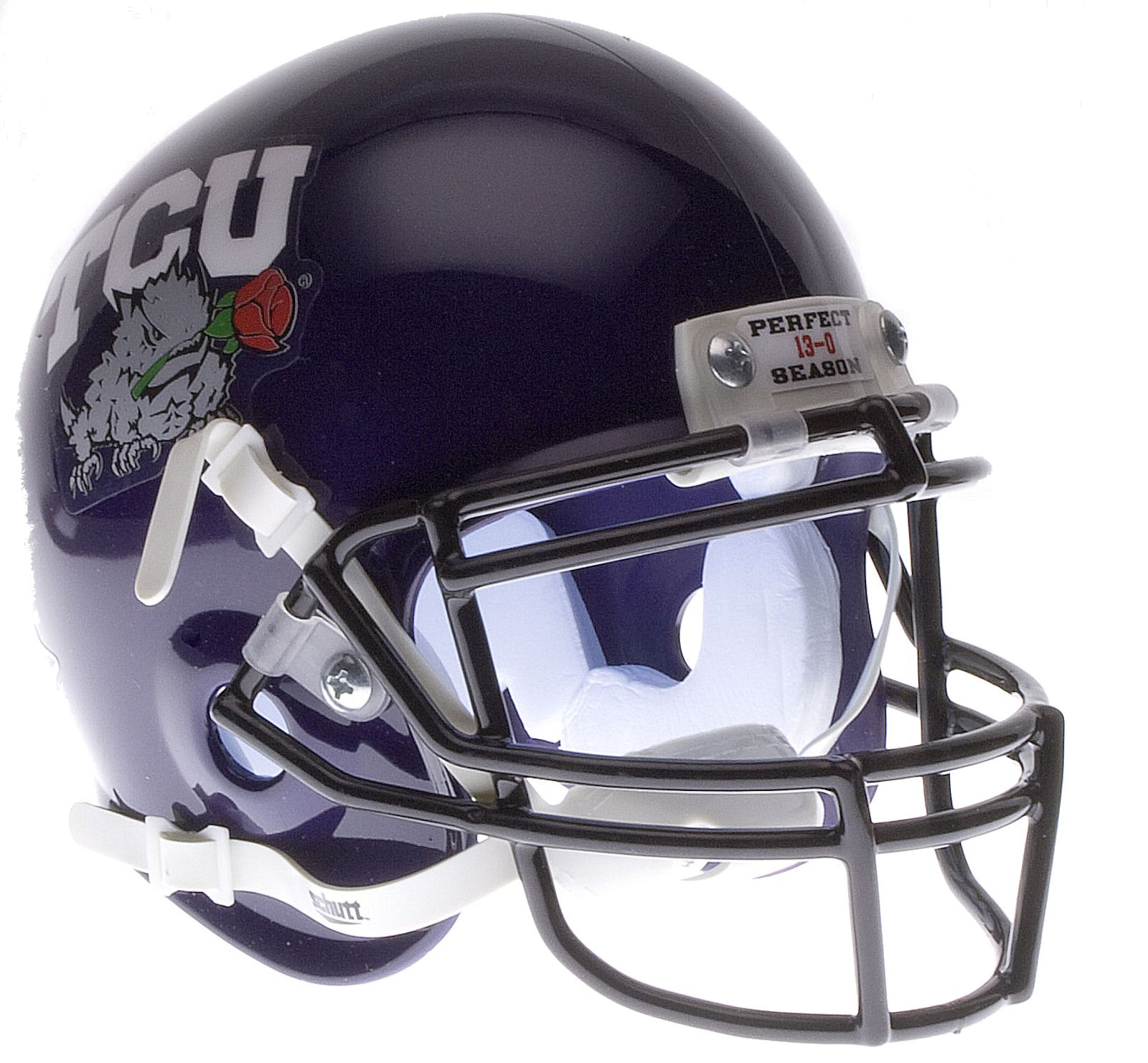 TCU Horned Frogs 2011 Rose Bowl Champs Mini Authentic Schutt PSM-Powers Sports Memorabilia