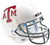 Texas A&M Aggies Mini XP Authentic Helmet Schutt B White Gray Mask B PSM-Powers Sports Memorabilia