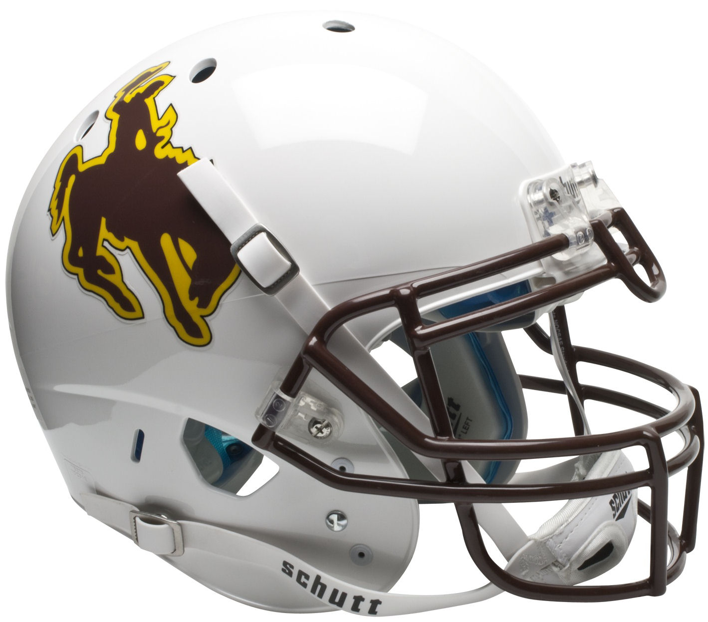 Wyoming Cowboys Authentic College XP Football Helmet Schutt PSM-Powers Sports Memorabilia
