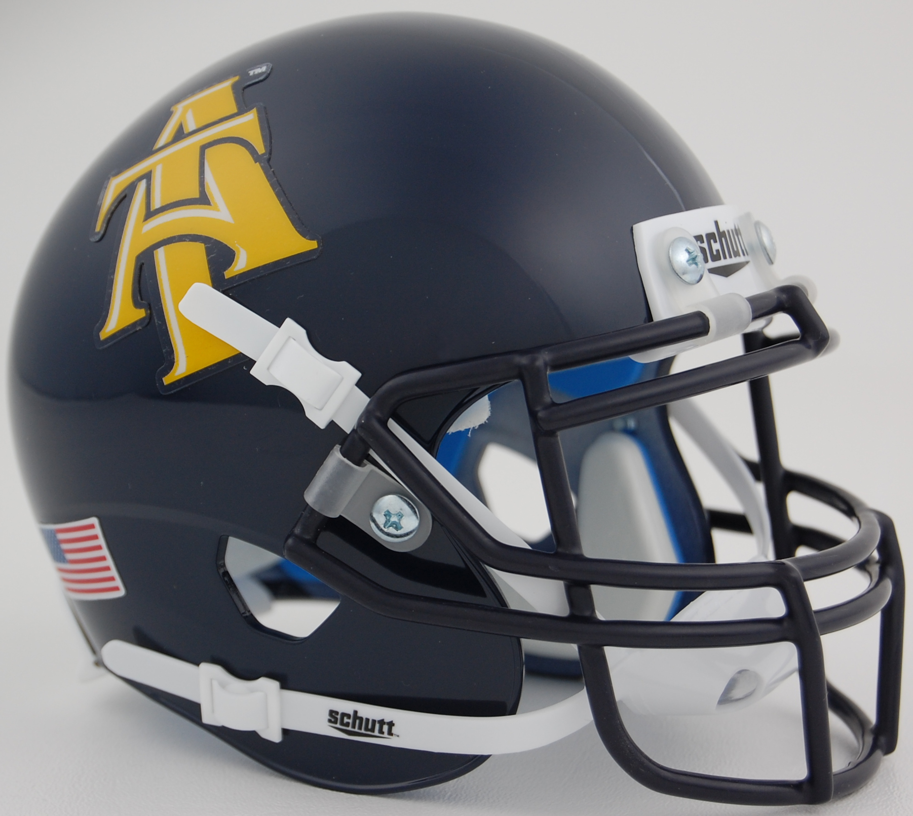 North Carolina A&T Aggies Mini XP Authentic Helmet Schutt PSM-Powers Sports Memorabilia